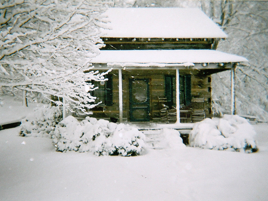 Cozy Cabin in the Snow